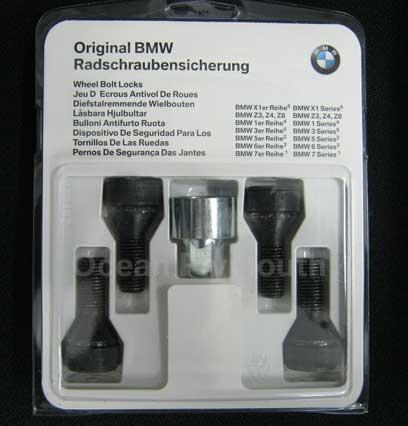 Genuine Bmw Locking Wheel Bolts Set 1 3 5 6 7 Series X1